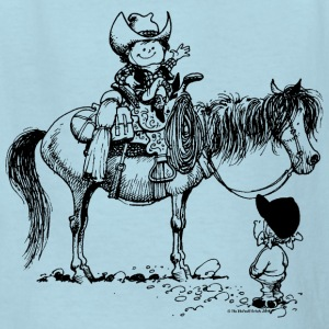 Thelwell Cowboy With Riding Pupil - Kids' T-Shirt