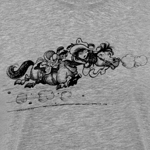 Thelwell Bolting Horse And Cowboy - Men's Premium T-Shirt