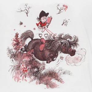 Thelwell Reading Outside Flowers - Kids' Premium T-Shirt