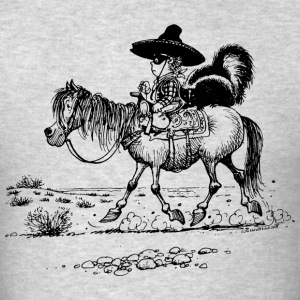 Thelwell Bandit With Cute Skunk And Horse - Men's T-Shirt