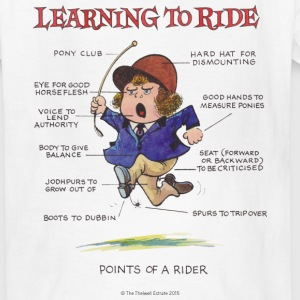 Thelwell Points Of A Rider Learning - Kids' T-Shirt