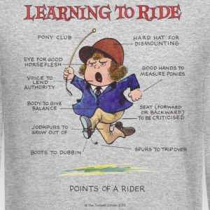 Thelwell Points Of A Rider Learning - Crewneck Sweatshirt