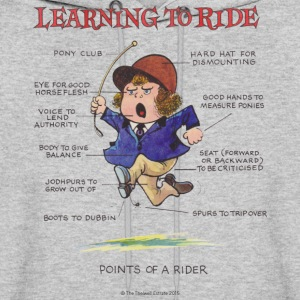 Thelwell Points Of A Rider Learning - Men's Hoodie