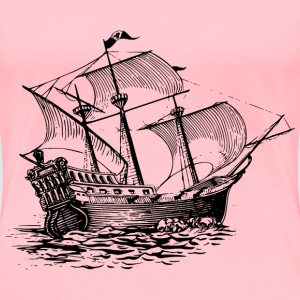 Galleon sail ship - Women's Premium T-Shirt