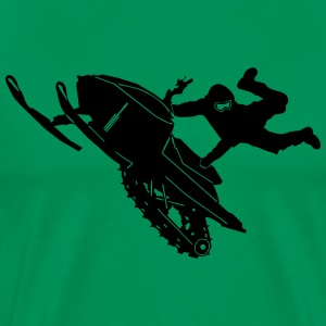 Snowmobil Jump - Men's Premium T-Shirt