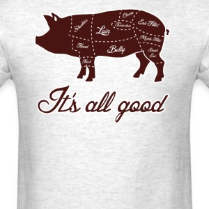 It's All Good Pig Pork Meat Map T-Shirts - Men's T-Shirt