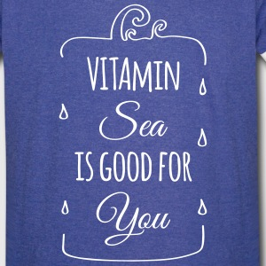 Vitamin sea is good for you ocean beach holiday C T-Shirts - Vintage Sport T-Shirt