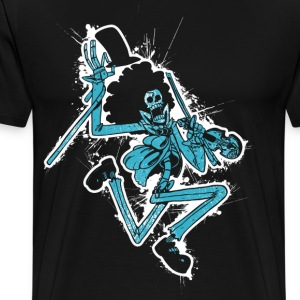 Bone Musician with Splash - Men's Premium T-Shirt