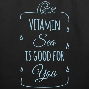 Vitamin sea is good for you ocean beach holiday C Bags & backpacks - Eco-Friendly Cotton Tote