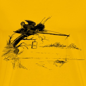 A fishing kingfisher - Men's Premium T-Shirt