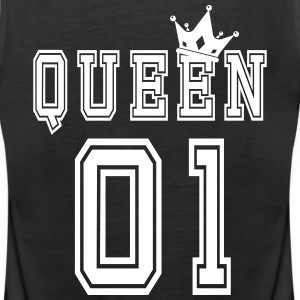 Valentine's Matching Couples Queen Jersey - Women's Premium Tank Top