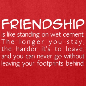 Friendship is like wet cement Bags & backpacks - Tote Bag