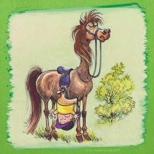 Thelwell Rider Hangover under Pony - Tote Bag