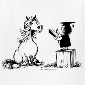 Thelwell Pony Learning At School Teacher - Kids' T-Shirt