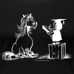 Thelwell Pony Learning At School Teacher - Women's Premium T-Shirt