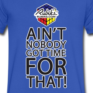 Rubik's Cube Ain't Nobody! - Men's V-Neck T-Shirt by Canvas