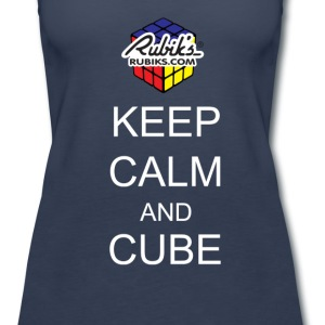 Rubik's Cube Keep Calm Cube On - Women's Premium Tank Top