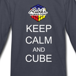 Rubik's Cube Keep Calm Cube On - Kids' Long Sleeve T-Shirt