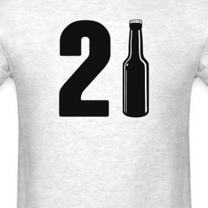 Just Turned 21 Beer Bottle 21st Birthday T-Shirts - Men's T-Shirt