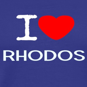 I LOVE RHODOS - Men's Premium T-Shirt