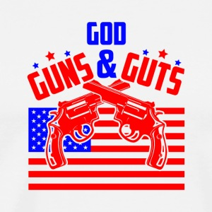 God Guns and Guts - Men's Premium T-Shirt