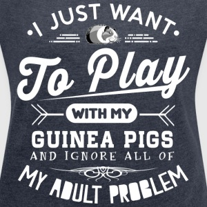 Guinea Pigs Lover T-Shirts - Women´s Roll Cuff T-Shirt