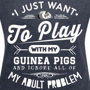 Guinea Pigs Lover T-Shirts - Women´s Rolled Sleeve Boxy T-Shirt