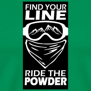 find zour line ride the powder black - Men's Premium T-Shirt