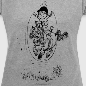 Thelwell Skipping Rope - Women´s Roll Cuff T-Shirt