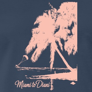 Miami To Diani Pink Edition - Men's Premium T-Shirt