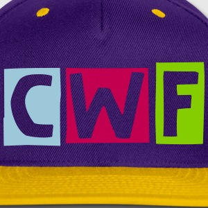 CWF Snap-back Baseball Cap - Purple/Yellow - Snap-back Baseball Cap