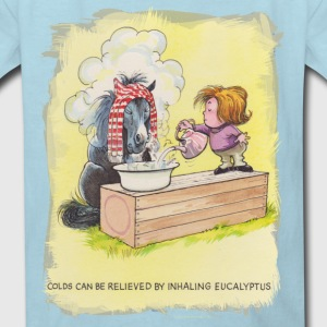 Thelwell Sleeping Horse Inhaling Eucalyptus - Kids' T-Shirt