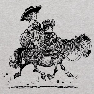 Thelwell Two Cowboys With Their Horse - Kids' Hoodie