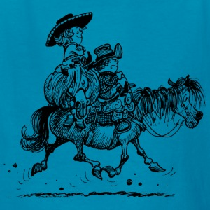 Thelwell Two Cowboys With Their Horse - Kids' T-Shirt