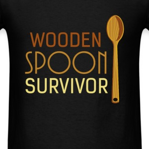 Funny - Wooden spoon survivor - Men's T-Shirt