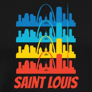 Retro Saint Louis MO Skyline Pop Art - Men's Premium T-Shirt