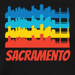 Retro Sacramento CA Skyline Pop Art - Men's Premium T-Shirt