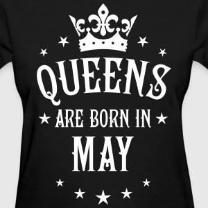 Queens are born in May Crown Stars sexy Woman T-Sh - Women's T-Shirt