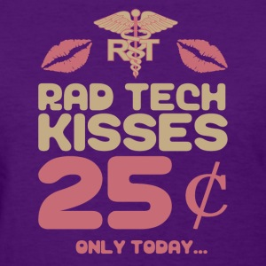 Rad Tech Kisses - X-Ray Tech Shirt T-Shirts - Women's T-Shirt