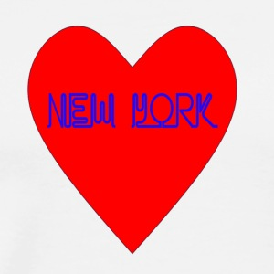 New York Heart - Men's Premium T-Shirt