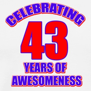 43th birthday design - Men's Premium T-Shirt