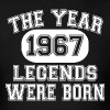 50th Birthday T Shirt -  1967 The Year Of Legends - Men's T-Shirt