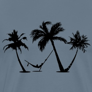 Palm trees Beach - Men's Premium T-Shirt