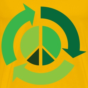 Recycle with Peace Symbol - Men's Premium T-Shirt