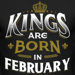 Born Birthday Bday Kings February Long Sleeve Shirts - Men's Long Sleeve T-Shirt by Next Level