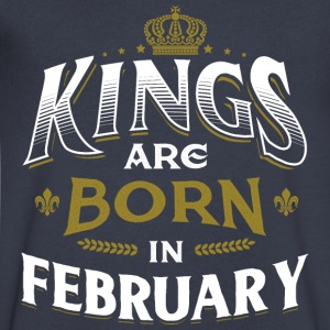 Born Birthday Bday Kings February T-Shirts - Men's V-Neck T-Shirt by Canvas