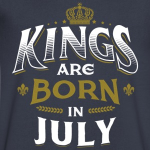 Born Birthday Bday Kings July T-Shirts - Men's V-Neck T-Shirt by Canvas