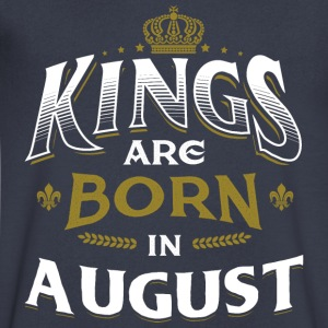 Born Birthday Bday Kings August T-Shirts - Men's V-Neck T-Shirt by Canvas