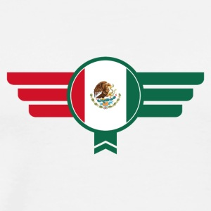 Mexico Badge Emblem Flag - Men's Premium T-Shirt