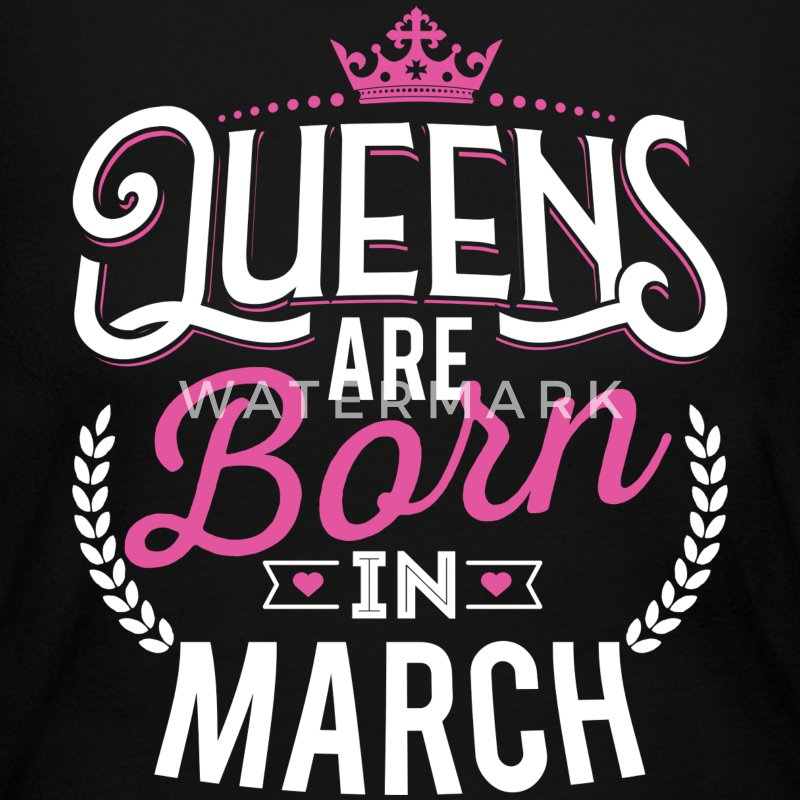 Born Birthday Bday Queens March Long Sleeve Shirts - Women's Long Sleeve Jersey T-Shirt